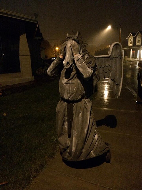 Weeping Angel from Doctor Who (with a twist) - Photo from Ben