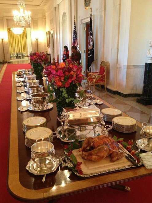 Beavers go to the White House for Thanksgiving dinner 1 (Courtesy- OSU Media Services)
