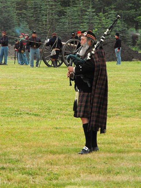 Highland Bagpiper  - Photo send in by YouNews user Photo Mike