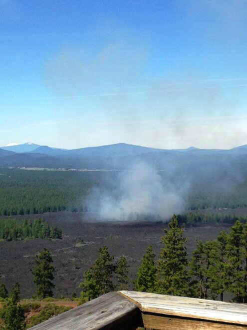 Kipuka Fire near Lava Butte in Central Oregon