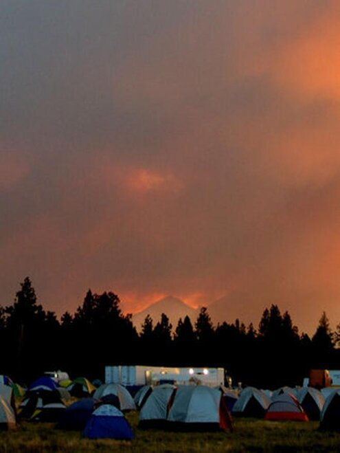Pole Creek Fire Incident Camp - YouNews Reporter Jeanh