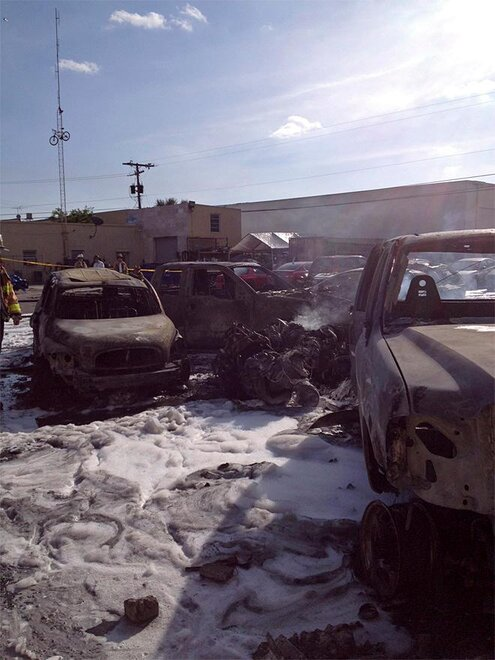 Plane Crash Parking Lot