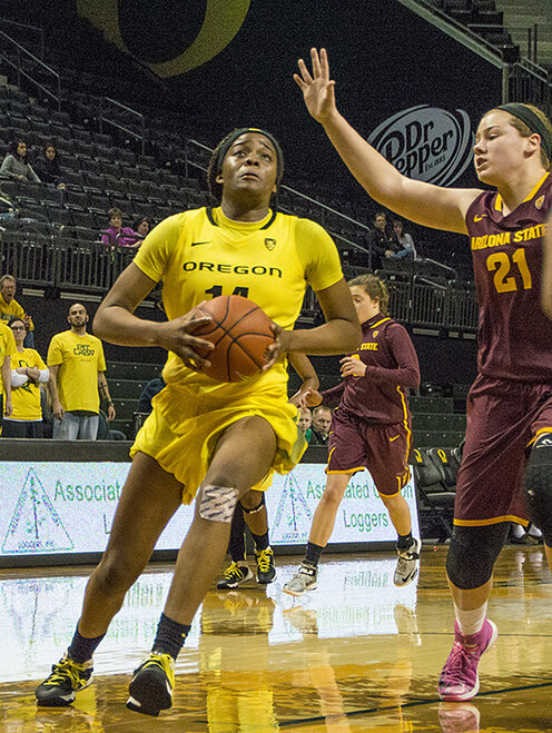 Oregon women beat Arizona State 98-90 at Matt Knight Arena - 12