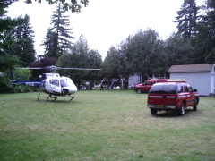 Man falls from roof... Life Flighted out
