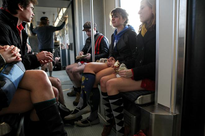 4th Annual No Pants Light Rail Ride