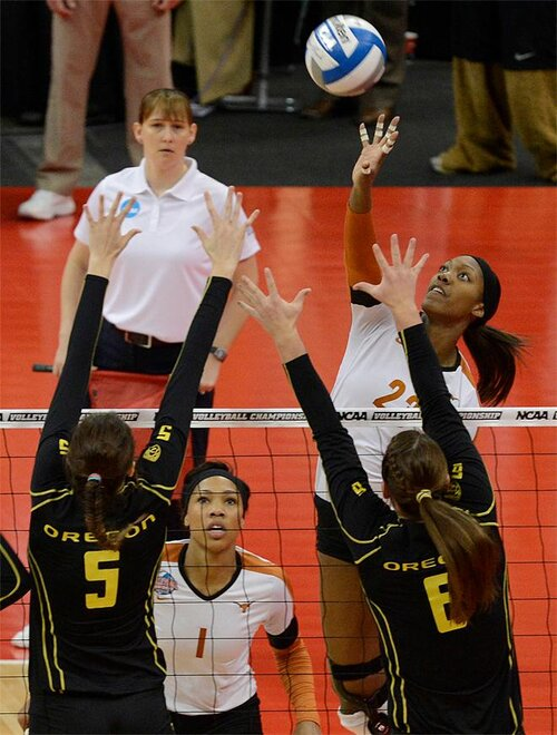 NCAA Championship Oregon Texas Volleyball