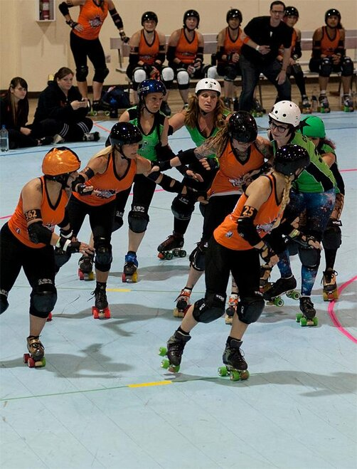 The Big O - Emerald City Roller Girls vs Sin City Roller Girls -11- Photo by Tristan Fortsch KVAL News