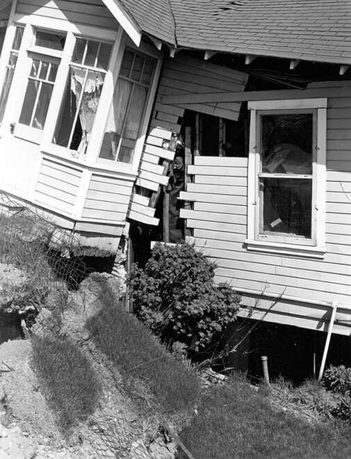 Wrecked dwelling in Anchorage