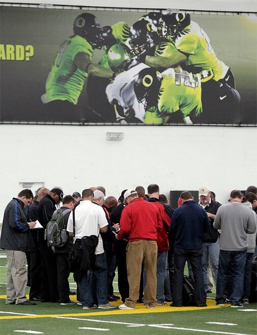 Oregon Pro Day Football