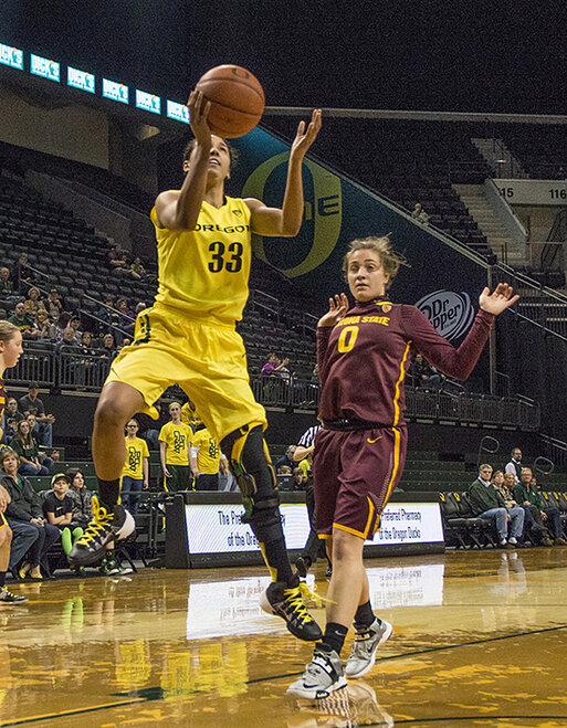 Oregon women beat Arizona State 98-90 at Matt Knight Arena - 09