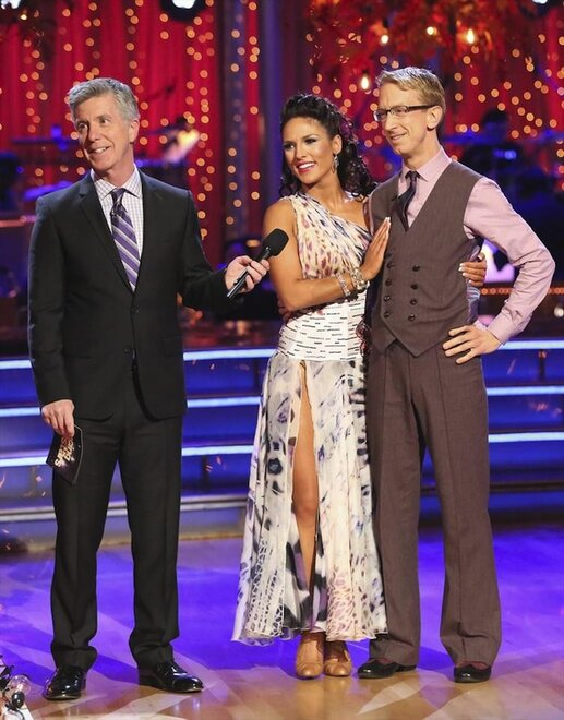 Host Tom Bergeron, Sharna Burgess and Andy Dick