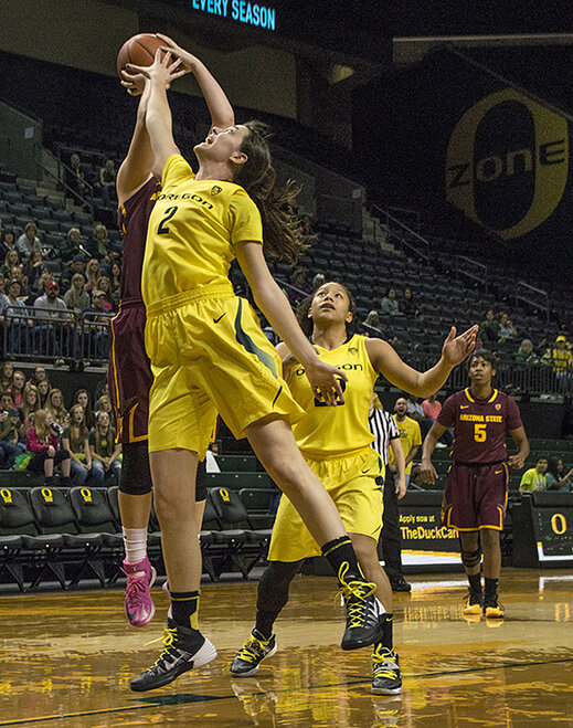 Oregon women beat Arizona State 98-90 at Matt Knight Arena - 02