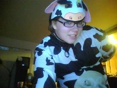Cow with squirting utters!