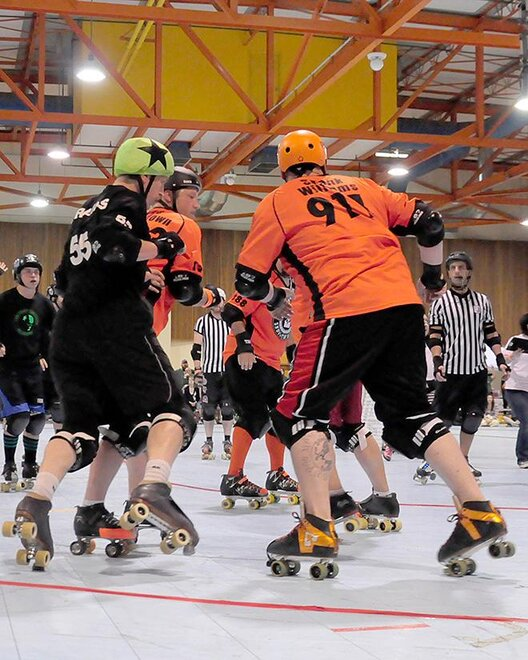 The Lane County Concussion and Emerald City Roller Girls host The Big O -09- Photo by Noah Gurevich_Oregon NewsLab