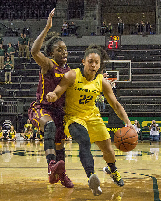 Oregon women beat Arizona State 98-90 at Matt Knight Arena - 10