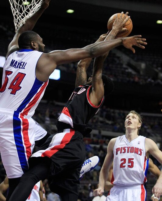 Trail Blazers Pistons Basketball