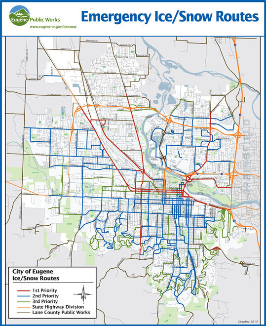 City of Eugene Plow Routes