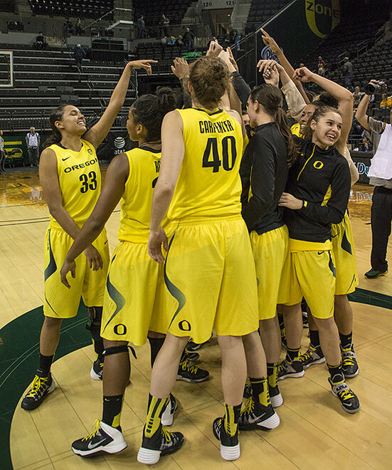 Oregon women beat Arizona State 98-90 at Matt Knight Arena - 14