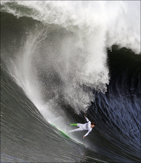 APTOPIX Big Wave Contest Surfing
