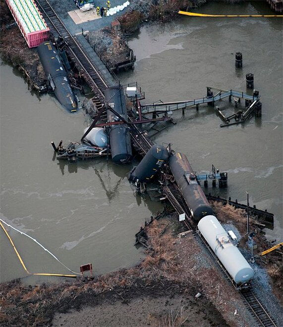 APTOPIX Train Derailment Chemicals