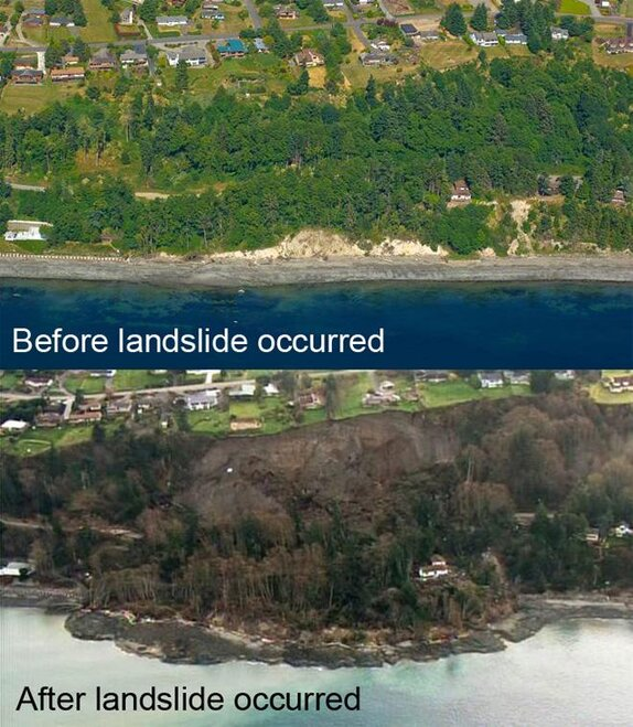 Landslide Before & After
