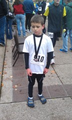 8yr old finishing half marathon