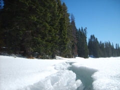 January spring weather at Diamond Lake