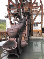 Old Gold Dredge in Sumpter, OR.