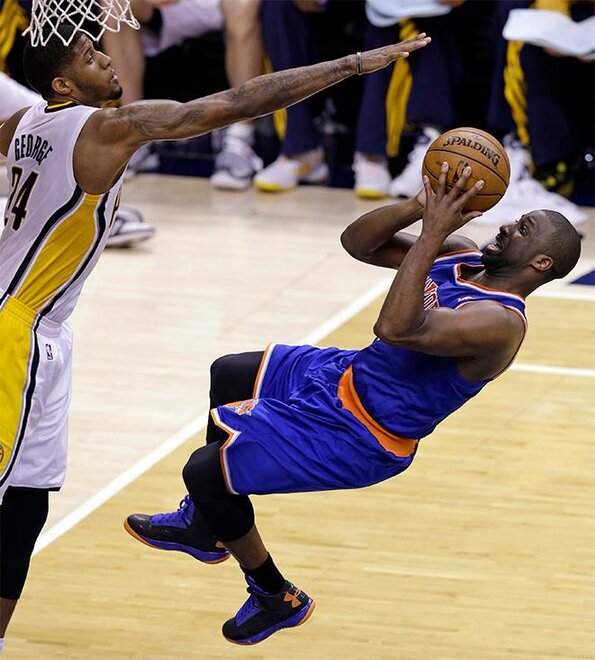 APTOPIX Knicks Pacers Basketball
