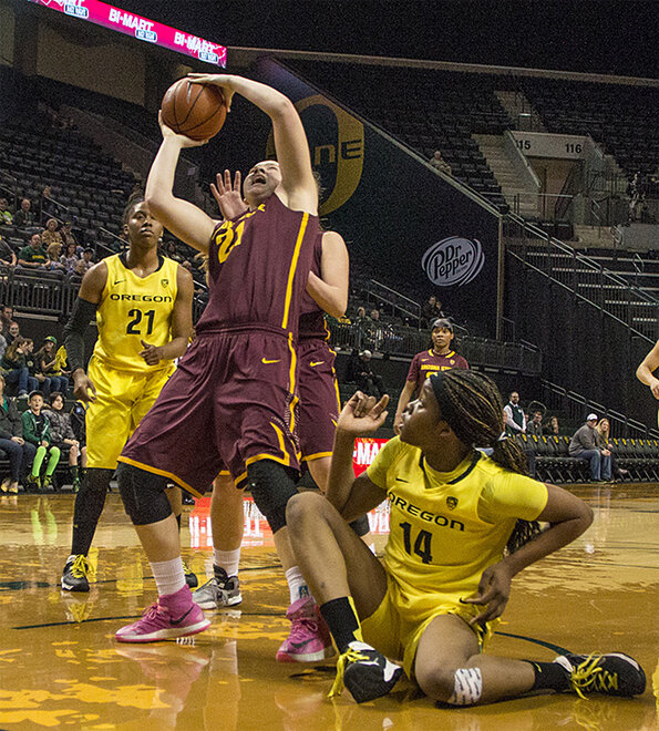 Oregon women beat Arizona State 98-90 at Matt Knight Arena - 03