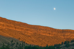 Moon over Warm Springs
