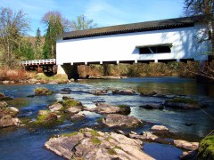 COVERED BRIDGES IN FALL CREEK AREA