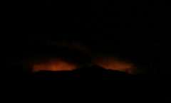 Kitson Fire Near Oakridge, Or Last Night