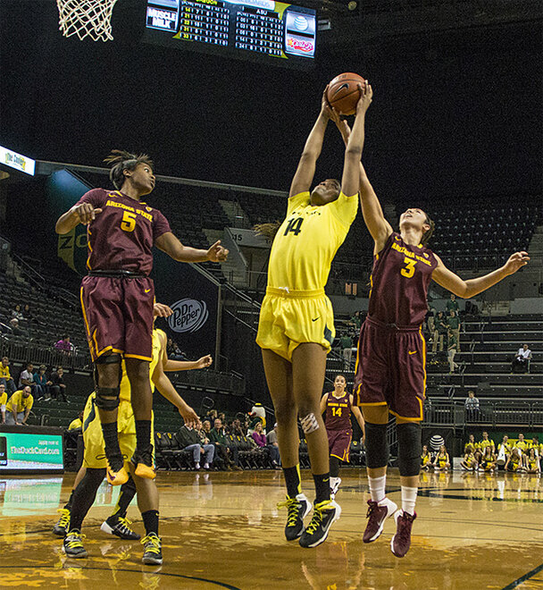 Oregon women beat Arizona State 98-90 at Matt Knight Arena - 07