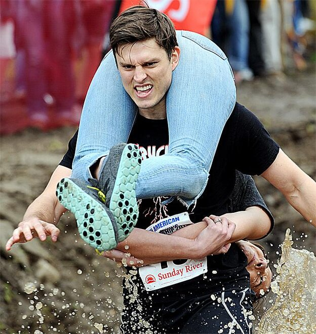 APTOPIX Wife Carrying Championship
