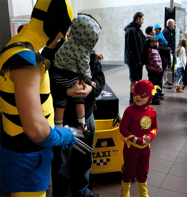 Fans compete in costume contest for Portland Comic Con passes - Photo by Tristan Fortsch