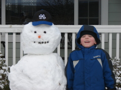 Snowmen in Meadowview neighborhood