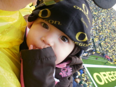 The first family football game at Autzen