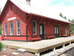 Train Depot-Semi-Ghost Town-Sumpter, OR.