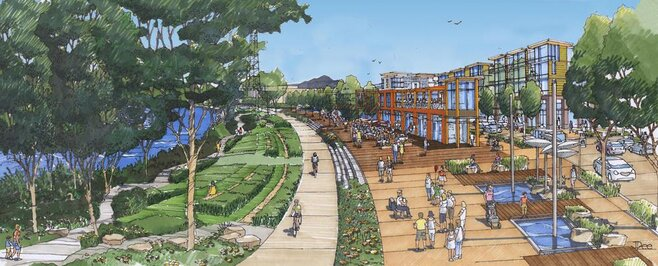 City Council gets first official look at waterfront redevelopment plan