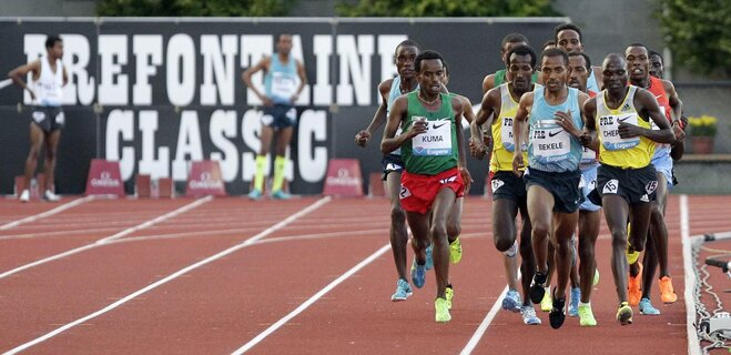 Bekele wins 10,000 meters at Pre Classic