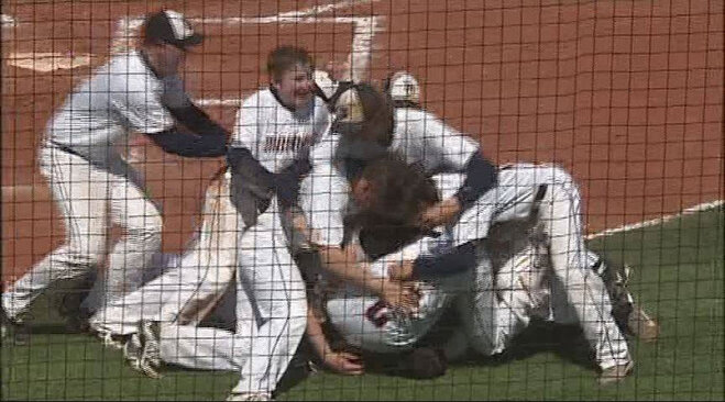 Monroe player hits homer in his first at-bat of playoffs to win state title
