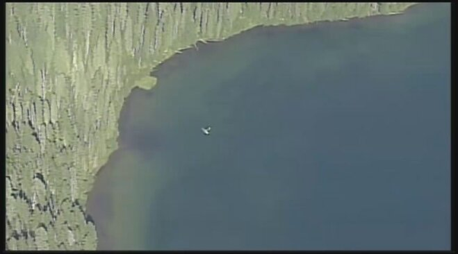 Airplane submerged in Marion Lake