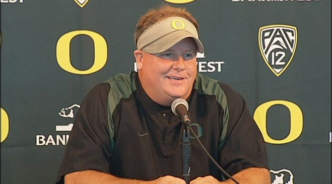 Oregon football media day