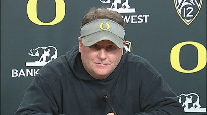 Raw Video: Chip Kelly, Marcus Mariota and Michael Clay talk 116th Civil War
