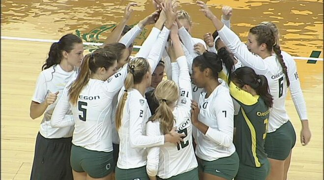 Ducks sweep Beavs in Pac-12 volleyball opener