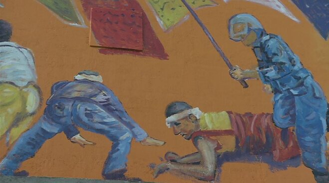 Chinese government protests Corvallis mural
