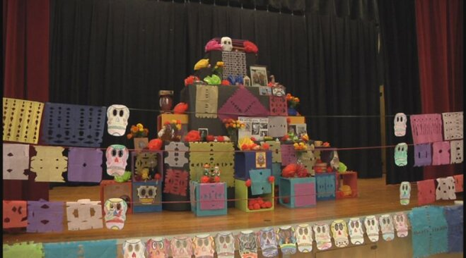 Day of the Dead at River Road school (2)