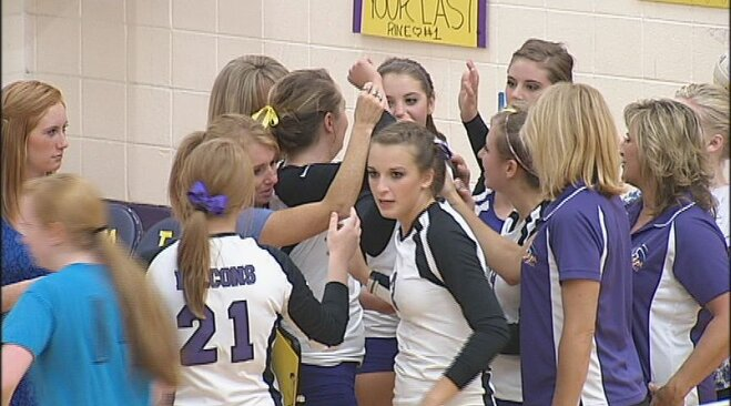 Falcons sweep Tigers in Sky-Em volleyball
