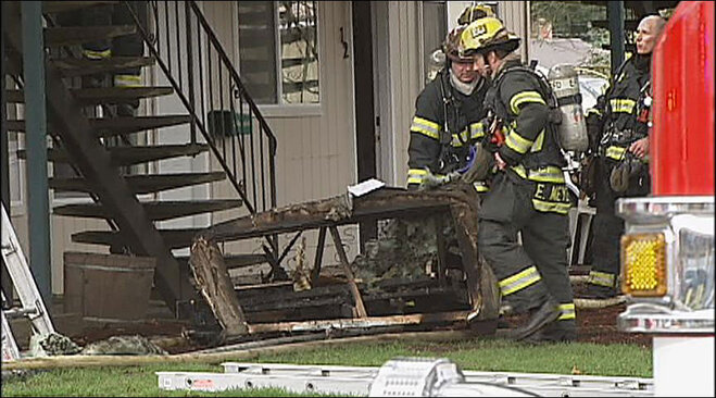 Firefighters respond to apartment fire at Maple Manor